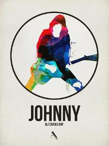Johnny Watercolor Circle by David Brodsky