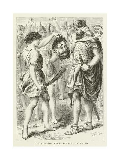 David Carrying in His Hand the Giant's Head--Giclee Print