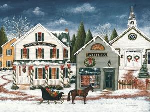 Christmas Village I Dark Crop by David Carter Brown