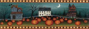 Halloween Eve Crescent Moon by David Carter Brown