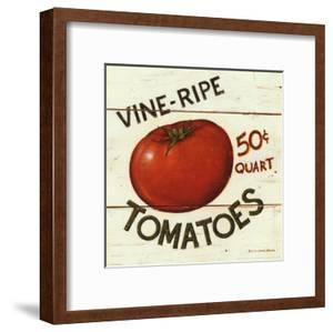 Vine Ripe Tomatoes by David Carter Brown