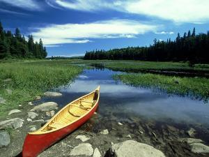 Cedar Canvas Canoe, Canada by David Cayless