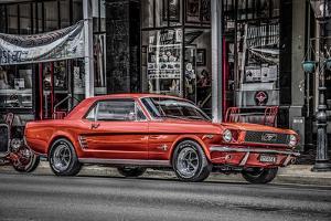 Vintage Retro American Car by David Challinor