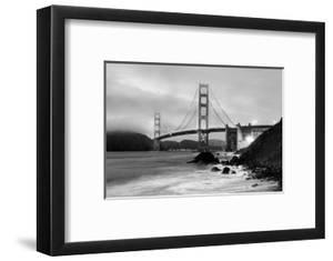 Cloudy Sunset Ocean Waves In San Francisco At Golden Gate Bridge From Marshall Beach By
