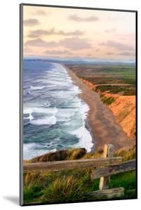 Sunset along Pt Reyes Seashore, San Francisco with oceans breaking along the California coast by David Chang