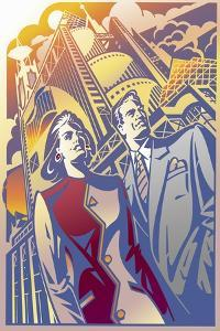 Architectural Business Couple by David Chestnutt