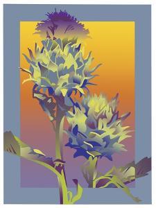Blue Thistle by David Chestnutt