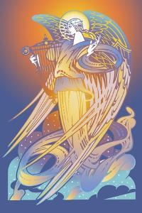 New Angel with Harp by David Chestnutt