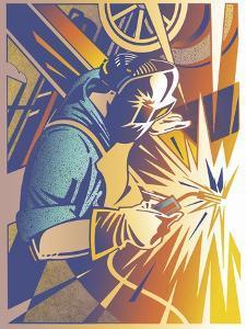 Welder's Spark by David Chestnutt