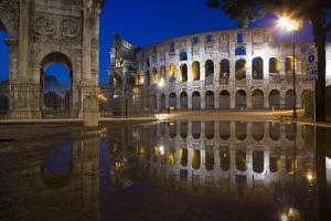 Dusk at the Colosseum, Rome, Italy by David Clapp
