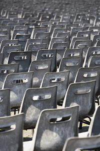 Plastic Chairs at 'An Audience with the Pope' St Peter's Basilica, Vatican City, Rome, Italy by David Clapp