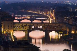 Ponte Vecchio and the River Arno at Dusk, Florence, Italy by David Clapp