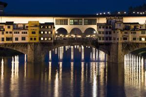 Ponte Vecchio at Night, Florence, Italy by David Clapp