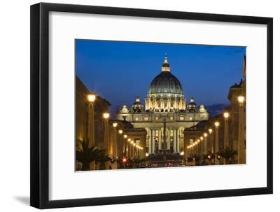 St Peter's Basilica at Dusk, Vatican City, Rome, Italy