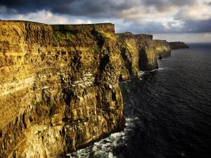 The Cliffs of Moher in Evening Light, Ireland by David Clapp