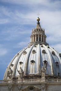 The domed roof of St Peter's Basilica, Vatican City, Rome, Italy. by David Clapp