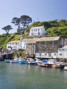The Harbour in Polperro in Cornwall, England, United Kingdom, Europe by David Clapp