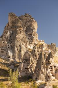 The Town of Orchisar, Showing the Old Tunneled Houses Dug into the Volcanic Rock, Cappadocia by David Clapp