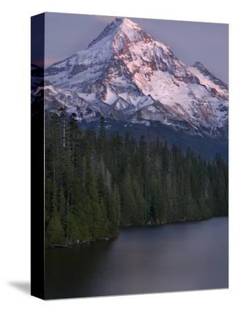 Mt. Hood at Twilight with Lost Lake in the Foreground, Oregon, USA