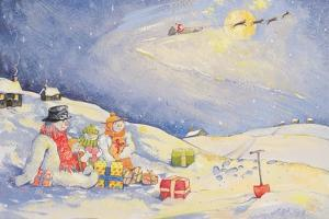 Snowman Family Christmas by David Cooke
