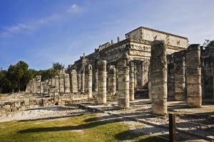 Chichen Itza Showing the Colonnades, Yucatan Peninsula of Mexico by David Davis