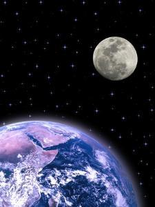 Earth and the Moon by David Davis