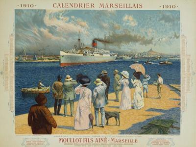 Calendrier Marseillais Travel Poster