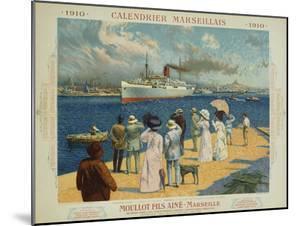 Calendrier Marseillais Travel Poster by David Dellepiane
