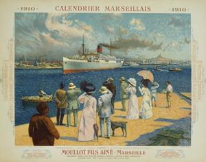 Calendrier Marseillais Travel Poster by David Dellepiane