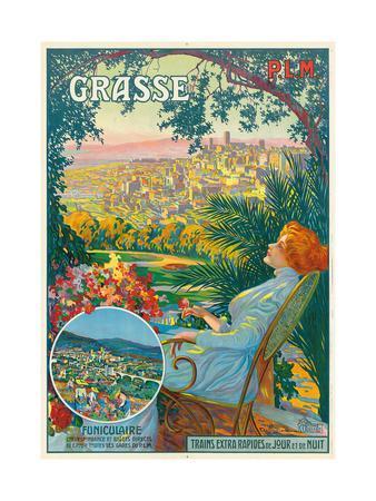 Ein Werbeplakt für Grasse. Ca. 1910