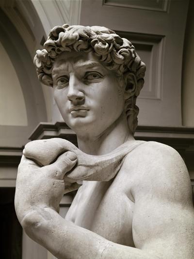 David, Detail-Michelangelo Buonarroti-Giclee Print