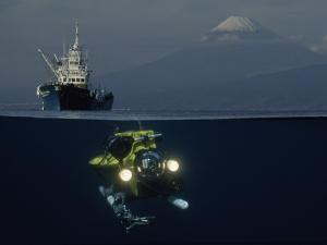 A Bifocal View Captures the Robot Searover in Little Explored Waters by David Doubilet