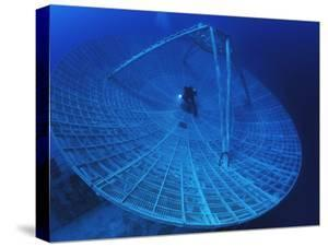 A Radar Dish Atop a Sunken Ship Used to Track Missiles by David Doubilet