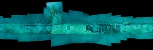 Fish Swarm the German Submarine U-352, Sunk Off North Carolina by David Doubilet