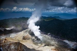 Garbuna Volcano on Willaumez Peninsula by David Doubilet