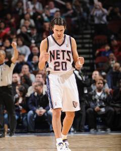 Atlanta Hawks v New Jersey Nets  Sasha Vujacic · David Dow a1ecdfab8