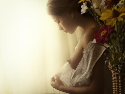 Girl in Morning Dressing