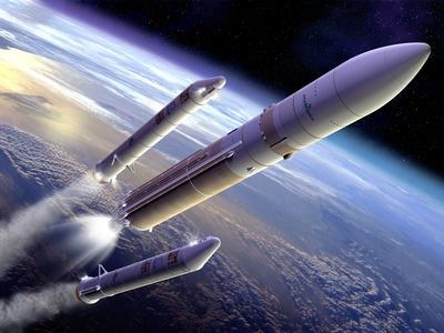 Ariane 5 Rocket Launch, Artwork