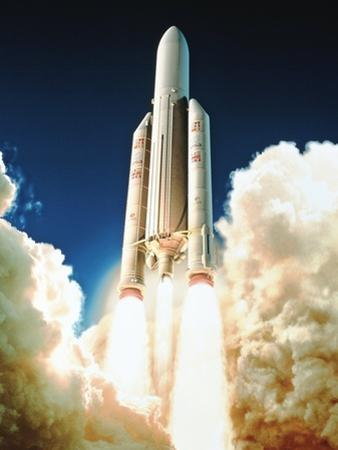 Launch of Ariane 5 by David Ducros