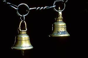 Brass Bells in a Katmandu Temple by David Edwards