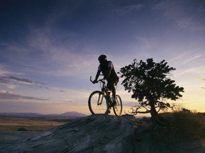 Cyclist at Sunset, Northern Arizona