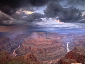 Monsoon Storm in the Grand Canyon, Alarcon Terrace, Conquistador Aisle, Grand Canyon, Arizona by David Edwards