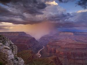 Monsoon Storm in the Grand Canyon by David Edwards