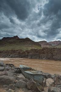 The Ross Wheeler Is a Metal Boat Above High Water Line at Mile 108 by David Edwards