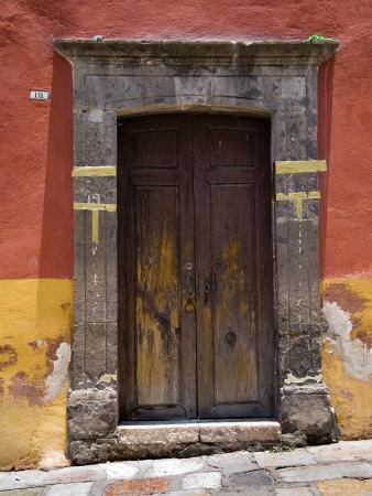 Door in a Painted Building, San Miquel de Allende, Mexico