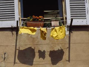 Laundry Hanging on a Line by David Evans