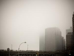 New York in the Fog by David Evans