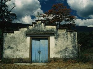 Rustic Rural Church in Central Venezuela Welcomes with a Blue Door by David Evans