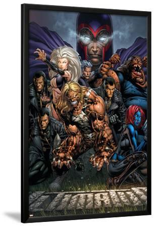 Ultimatum No.3 Cover: Magneto, Sabretooth, Madrox, Mystique, Blob, Quicksilver and Lorelei