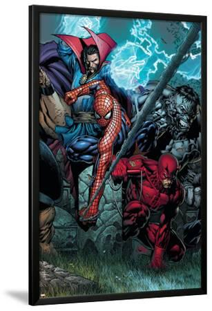 Ultimatum No.4 Cover: Spider-Man, Daredevil, Dr. Strange and Hulk